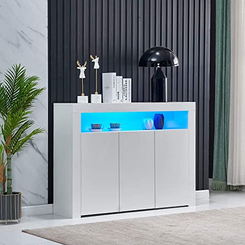 Homesailing Living Room Sideboard, Kitchen Unit Display Cabinet