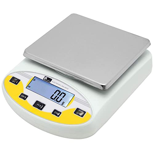 Buy Cgoldenwall Large Range Lab Digital Analytical Balance Lab Precision Scale Jewelry Kitchen Scales Electronic Balance Weighing And Counting Scale 0 1g Calibrated Pan Size 180140mm Yellow 5kg 0 1g Online In Germany B07tgbnvhl