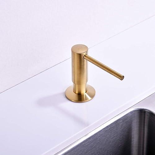 Buy Soap Dispenser Soap Dispenser For Kitchen Sink Commercial Liquid Dish Dispensers Built In Kitchen Sink Soap Dispenser Brushed Gold Lotion Dispenser Online In Germany B07pcppd4b