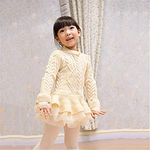 BTGIXSF Toddler Baby Girls Lace Dress 3//4 Sleeve Crew Neck Floral A-Line Party Princess Dress