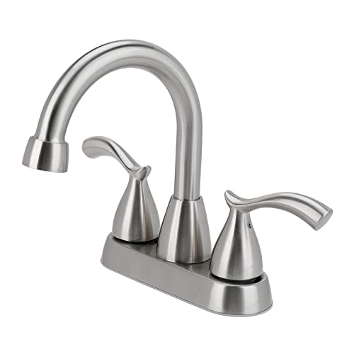 Buy Bathroom Faucet 2 Handle Brushed Nickel Bathroom Sink Faucet 4 Inch Centerset Lead Free Modern Commercial Bathroom Faucets 3 Holes Double Handles Rv Bathroom Vanity Sink Faucets Online In Germany B08mlq12kw