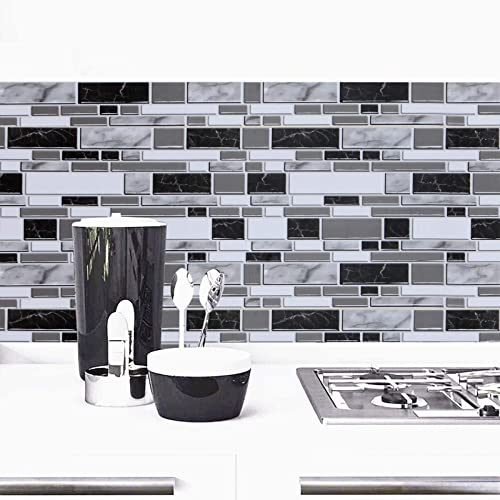 Buy Black And White Peel And Stick Wallpaper For Kitchen 11 8inch X 78 7inch Kitchen Wallpaper Bathroom Self Adhesive Wall Paper Waterproof Countertop Removable Wallpaper Backsplash Vinyl Film Decoration Online In Germany B07yqgvmg7
