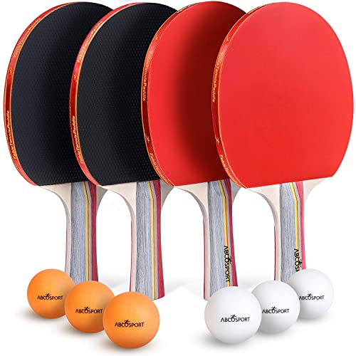 Set of 2 Table Tennis Bats /& 3 Balls Paddle Blade Ping Pong  2 Players Kids Game
