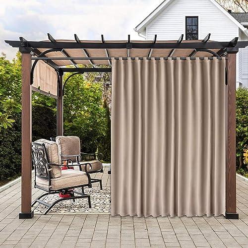 Sheeroom Indoor Outdoor Curtains, Outdoor Waterproof Curtains Patio