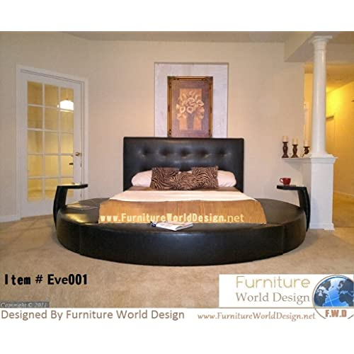 Queen Size Round Bed With 2 Night, Round Queen Size Bed