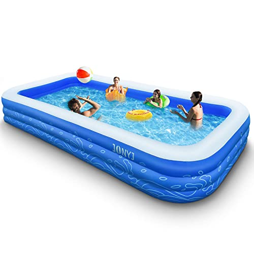 Buy Jonyj Inflatable Pool 150 X 72 X 22 Family Full Sized Inflatable Swimming Pool Blow Up Pool For Kids Adults Toddlers Oversize Lounge Kiddie Pools For Outdoor Garden Backyard Online In Germany