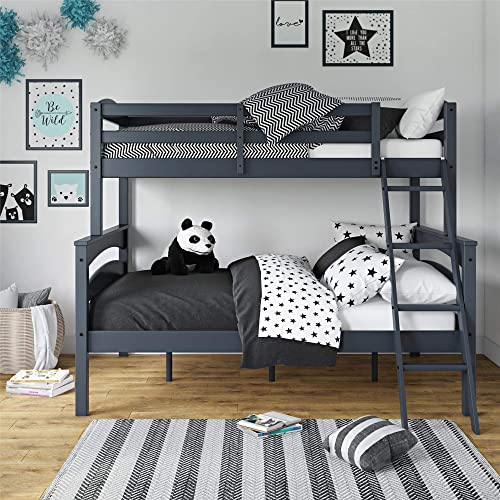 Buy Dorel Living Brady Twin Over Full Solid Wood Kid S Bunk Bed With Ladder Gray Online In Germany B01n1wvifu
