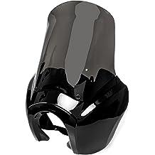 Krator HG007 Chrome Billet Hand Grips Black Flame Set Stilleto End Fits 1 Handlebars Bar