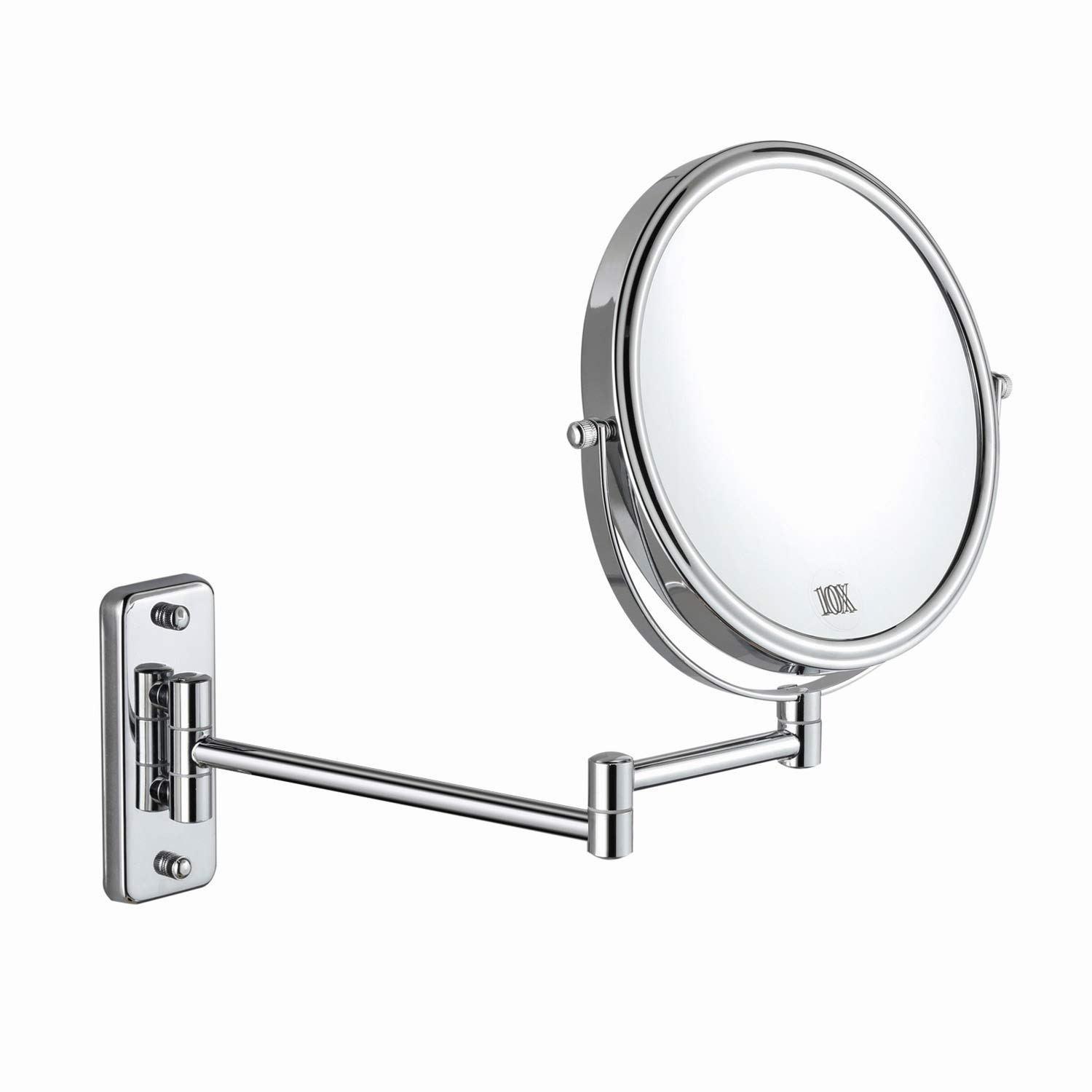Buy Decluttr 8 Inch Wall Mounted Magnifying Mirror With 10x Magnification Double Sided Vanity Makeup Mirror For Bathroom Chrome Finished Online In Germany B07j9p9kn5