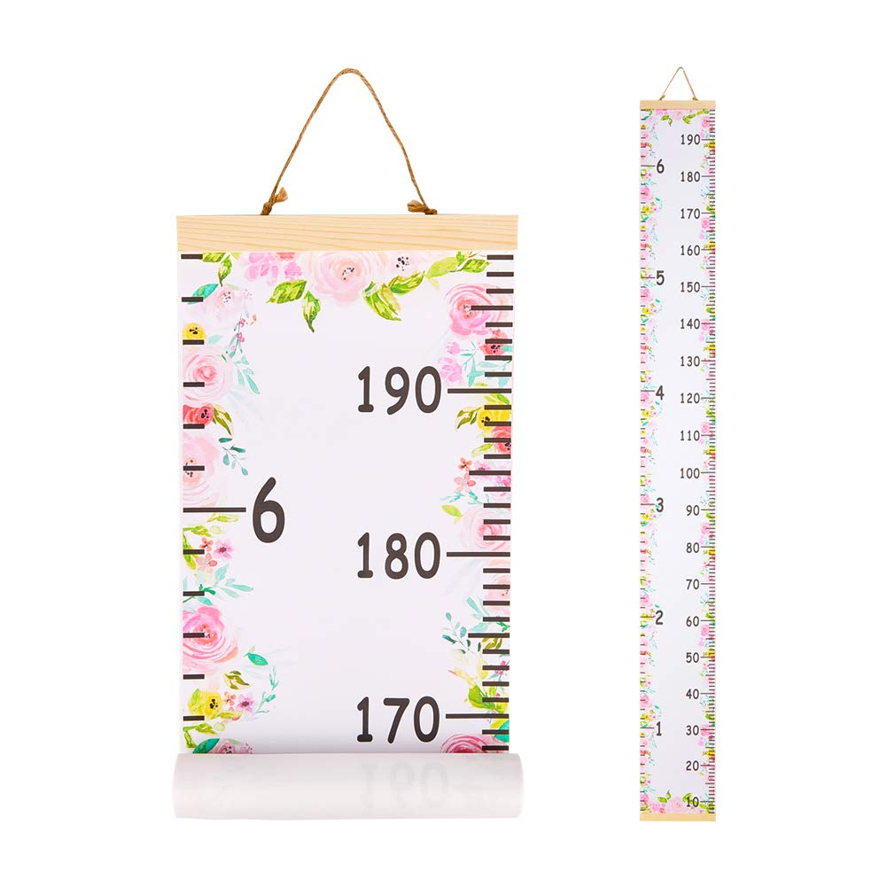 Buy Beinou Baby Growth Chart Ruler for Kids Wood Frame Height ...