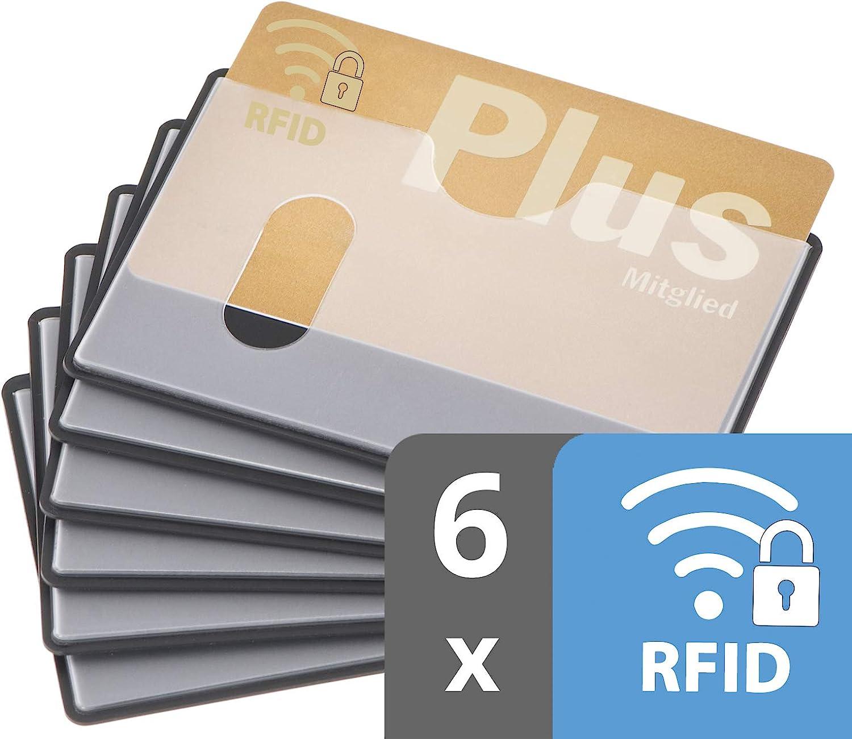 Buy valonic RFID blocking sleeves horizontal slot 7-pack