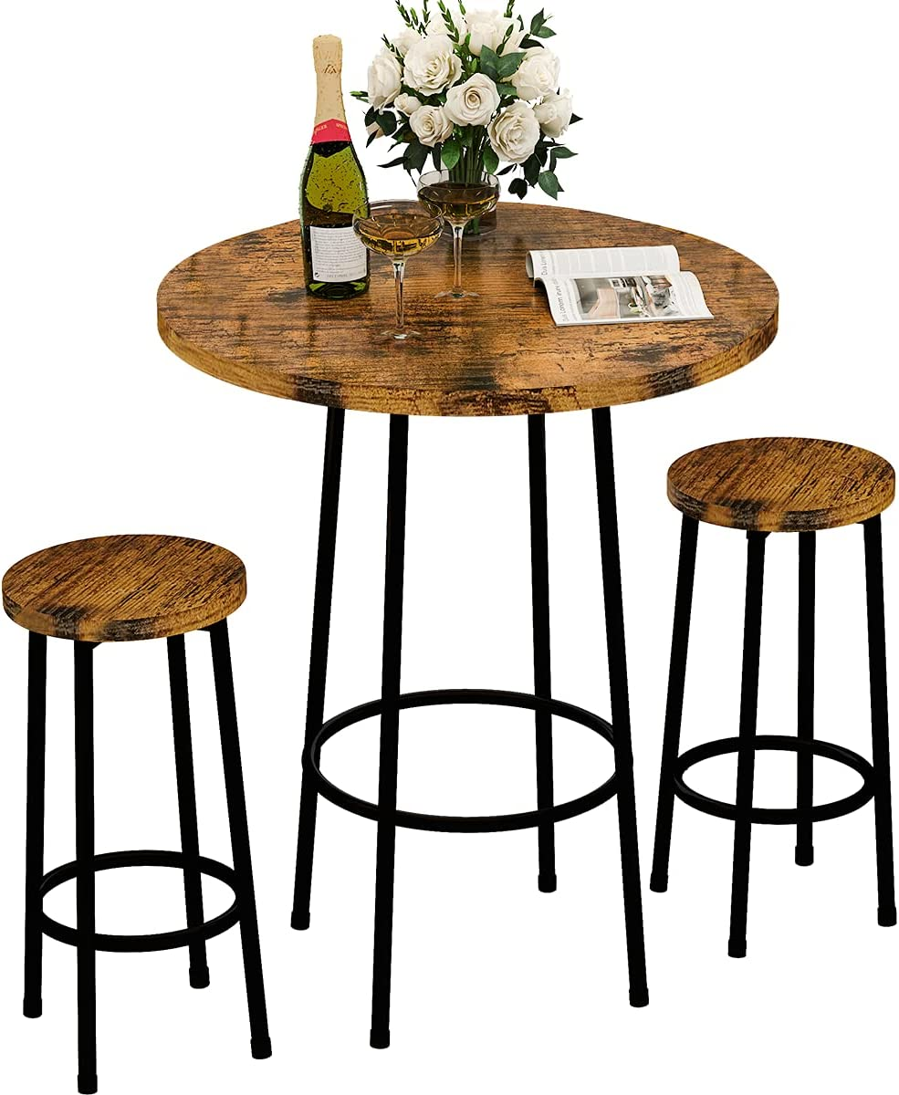 Buy Recaceik 9 Piece Pub Dining Set, Modern Round bar Table and ...