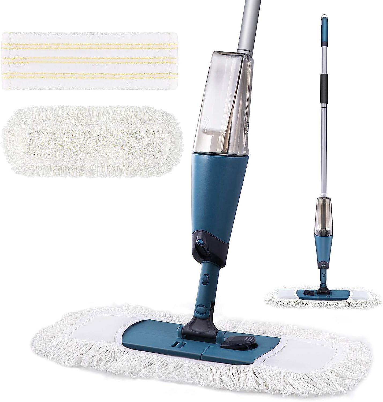Buy Yocada Microfiber Spray Mop with Total 9 Washable Mop Pad 9 ...