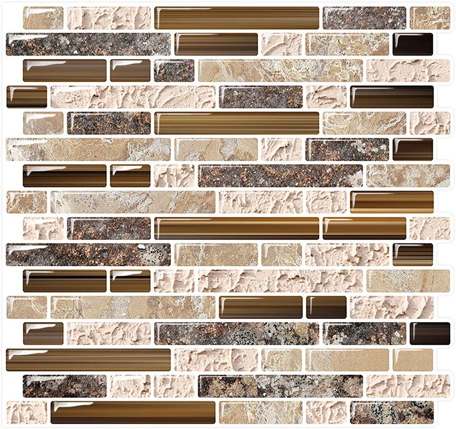 Buy Peel and Stick Backsplash Tile for Kitchen Adhesive Stick on ...