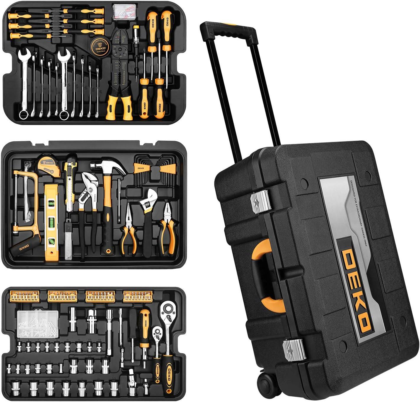 Buy DEKOPRO 20 Piece Tool Kit with Rolling Tool Box Socket Wrench ...