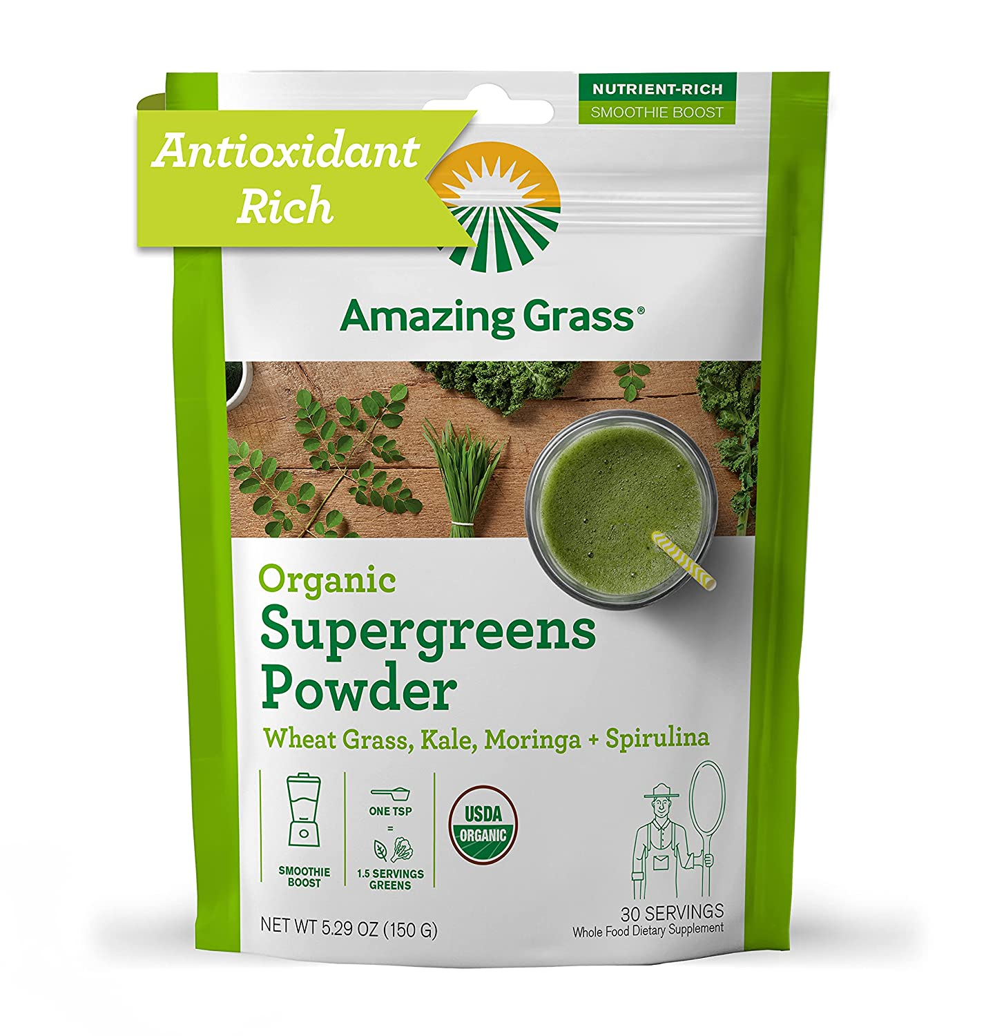 Buy Amazing Grass Super Greens Booster Greens Powder with ...